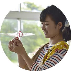 例えば、はばたき飛行機製作