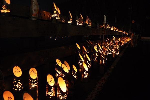 金峰二千年橋竹灯籠祭り