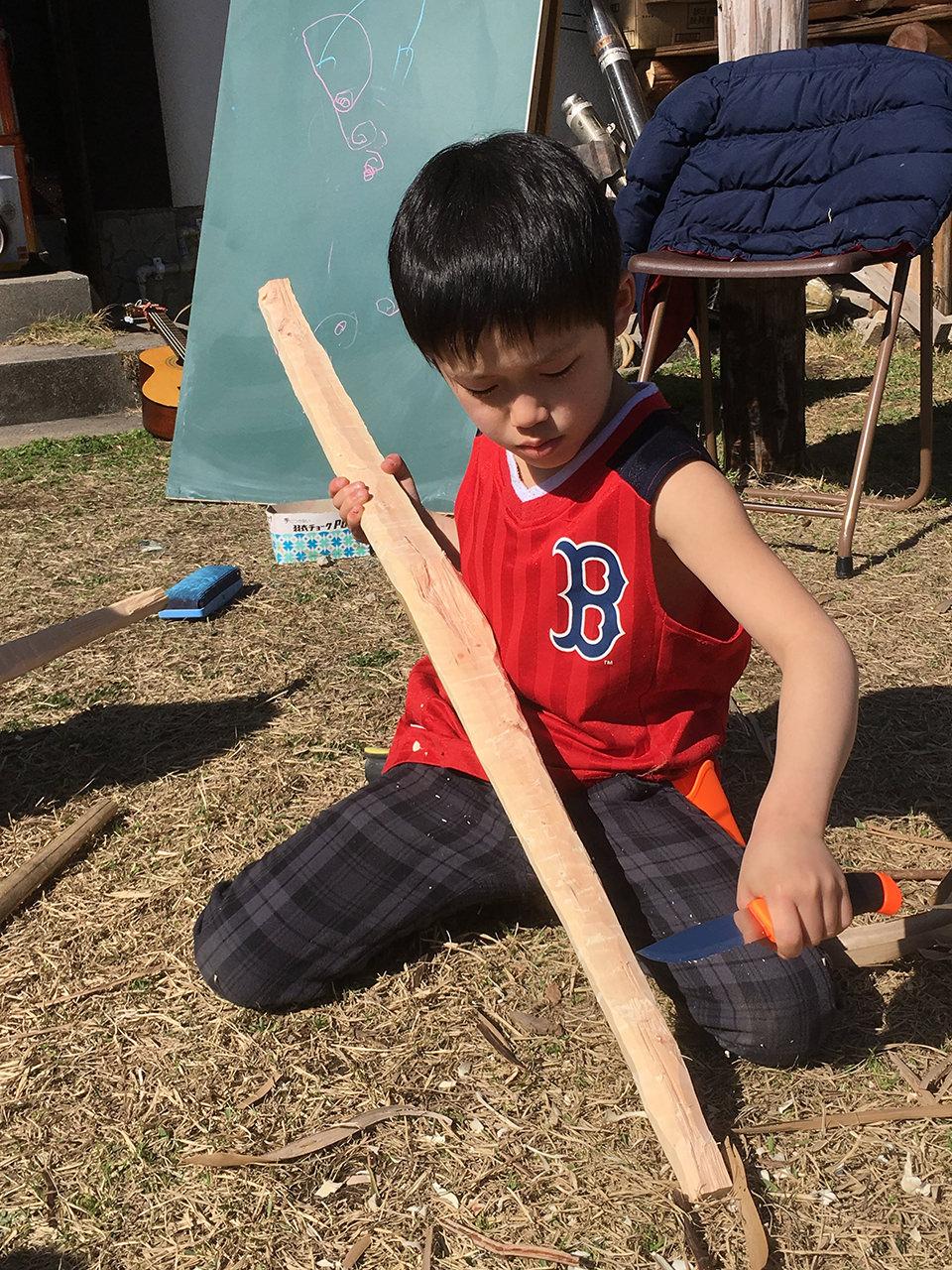 ヤブツバキからの弓矢作りワークショップ、人生観の変わる2日間でした!