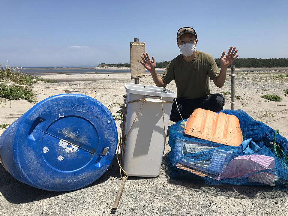 海岸清掃の獲れ高