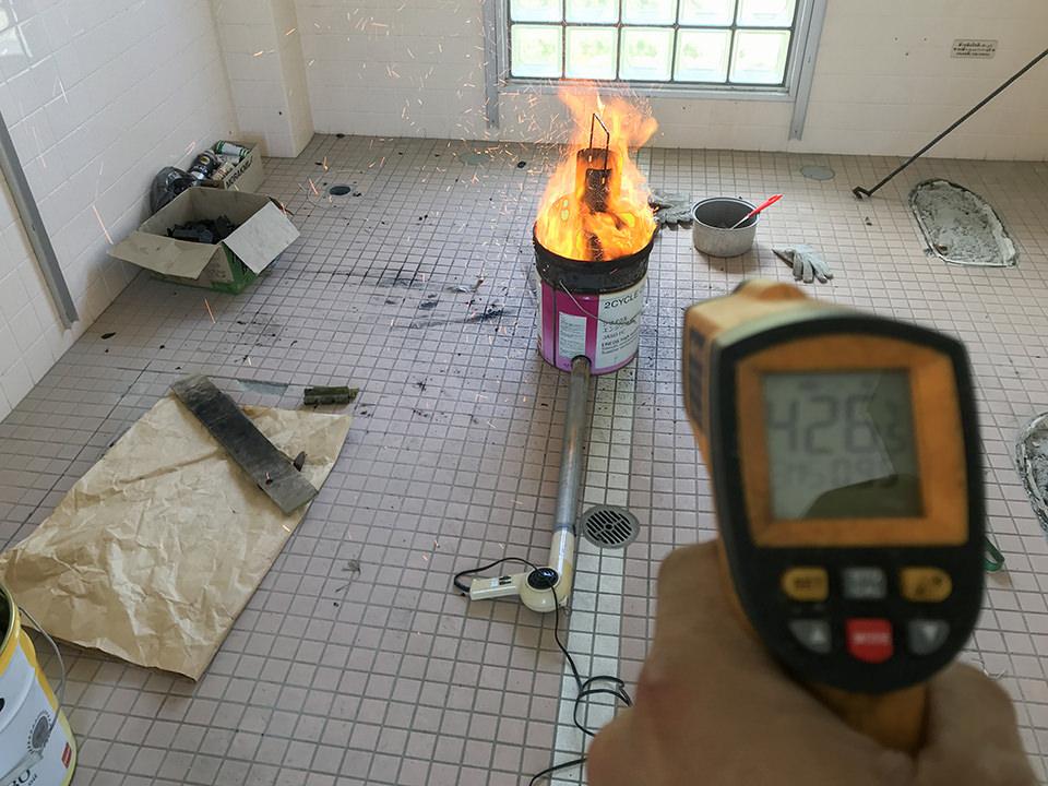 炎が大きくてもまだ400度台